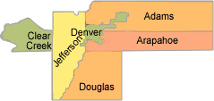 Service Area for Denver CILs